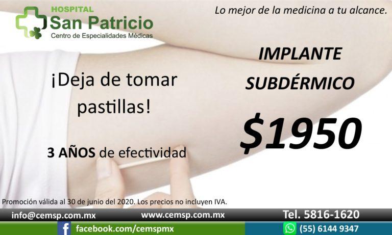 Anticonceptivo Subdérmico jun20