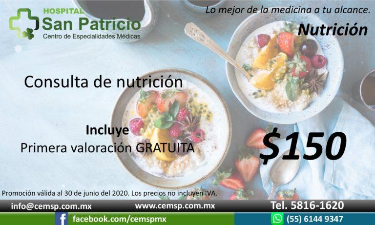 Nutrición valoración y consulta 1 jun20