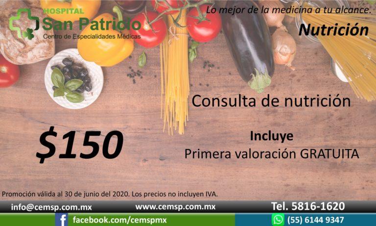 Nutrición valoración y consulta 2 jun20